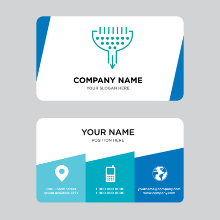 Funnel business card design template, Visiting for your company, Modern Creative and Clean identity Card Vector Illustration