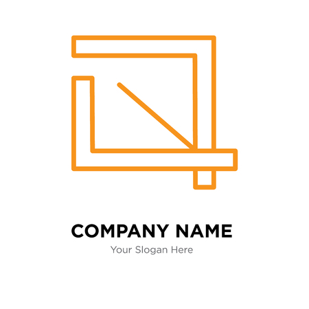 Crop company logo design template, Crop logotype vector icon, business corporative  イラスト・ベクター素材