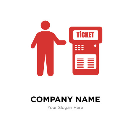 Modèle de conception de logo de société ticket machine, icône de vecteur de ticket machine logotype, entreprise corporative Logo
