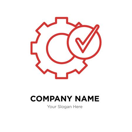 Settings company logo design template, Settings logotype vector icon, business corporative