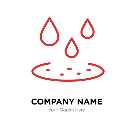 Drop company logo design template, Drop logotype vector icon, business corporative