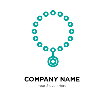 Necklace company logo design template, Necklace logotype vector icon, business corporative