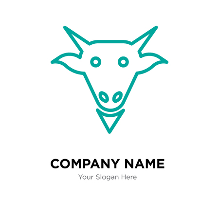 Goat company logo design template, Goat logotype vector icon, business corporative Logo