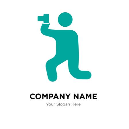 Photo company logo design template, Photo logotype vector icon, business corporative Foto de archivo - 106270632