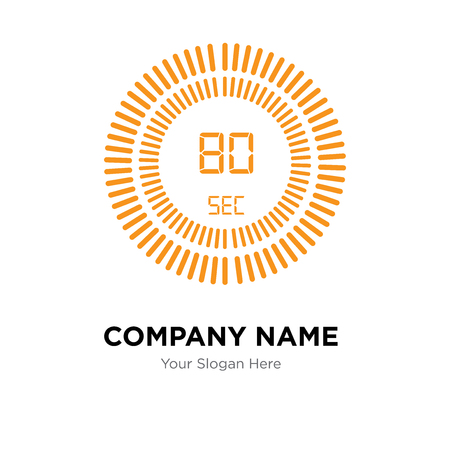 The 80 seconds company logo design template, The 80 seconds logotype vector icon, business corporative Logo