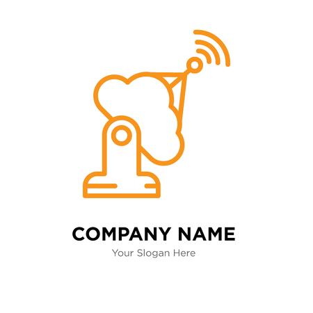 Plantilla de diseño de logotipo de empresa de antena, icono de vector de logotipo de antena, empresa corporativa