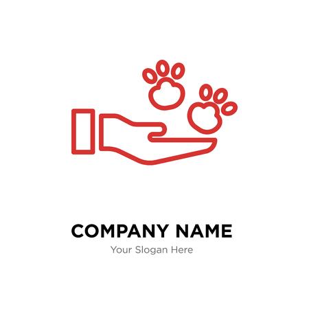 Plantilla de diseño de logotipo de empresa de cuidado de mascotas, icono de vector de logotipo de cuidado de mascotas, empresa corporativa