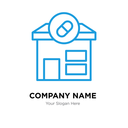 Pharmacy company logo design template, Pharmacy logotype vector icon, business corporative Ilustração