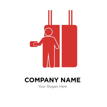 Plantilla de diseño de logotipo de empresa de ascensor, icono de vector de logotipo de ascensor, empresa corporativa
