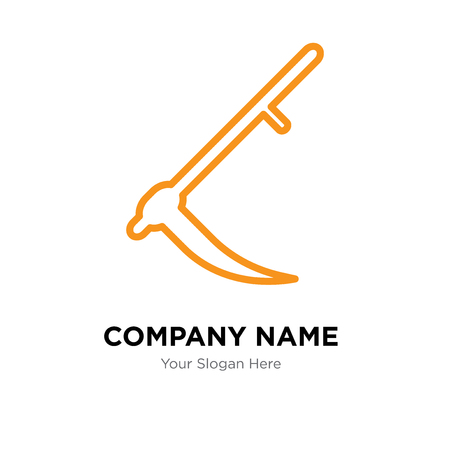Sickle company logo design template, Sickle logotype vector icon, business corporative