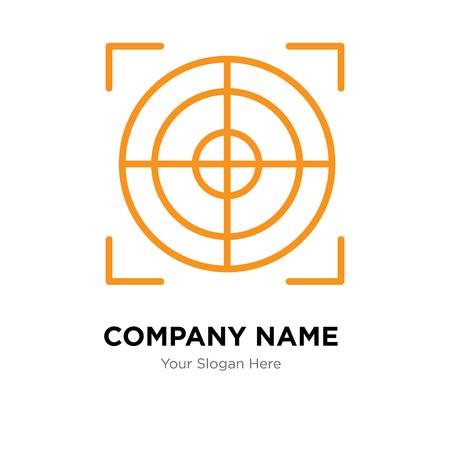 Plantilla de diseño de logotipo de empresa de destino, icono de vector de logotipo de destino, empresa corporativa