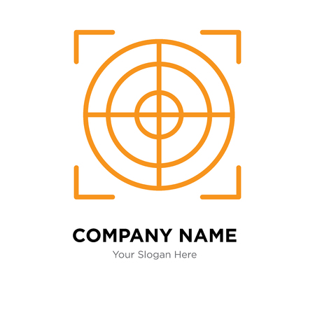Target company logo design template, Target logotype vector icon, business corporative Çizim