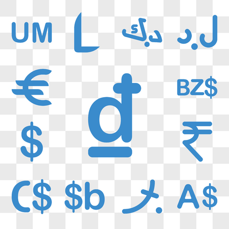 Set Of 13 transparent icons such as Croatia currency, Currency Maldives Bolivia Nicaragua India web ui editable icon pack, transparency