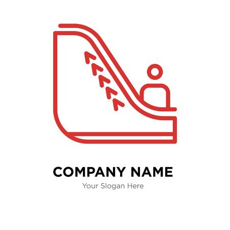 Escalator company logo design template, Escalator logotype vector icon, business corporative