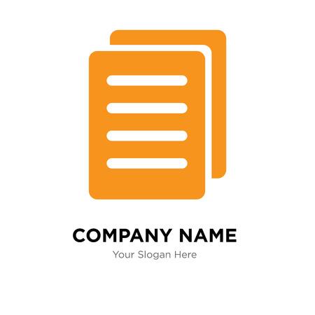 Modèle de conception de logo d'entreprise de fichier, icône de vecteur de fichier logotype, entreprise corporative