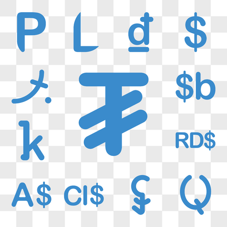 Set Of 13 transparent icons such as Mongolia currency, Guatemala Cambodia Cayman Islands, Currency Dominican Republic web ui editable icon pack, transparency