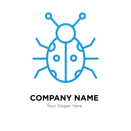 Ladybug company logo design template, Ladybug logotype vector icon, business corporative