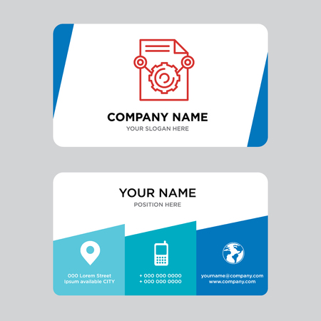 Content business card design template, Visiting for your company, Modern Creative and Clean identity Card Vector Illustration Vettoriali