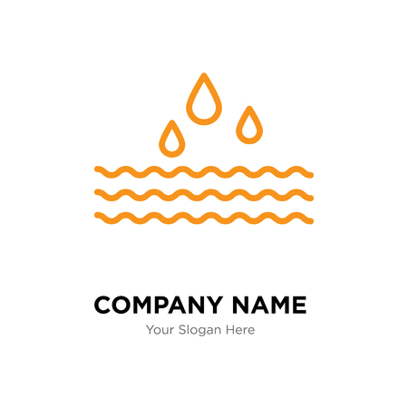Water company logo design template, Water logotype vector icon, business corporative