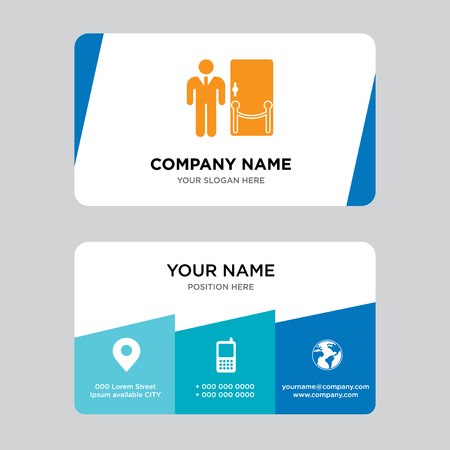 Doorman business card design template, Visiting for your company, Modern Creative and Clean identity Card Vector Illustration