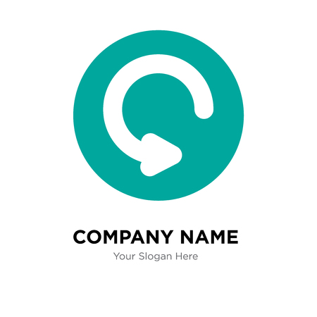 Refresh company logo design template, Refresh logotype vector icon, business corporative Vettoriali