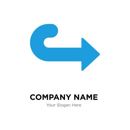 Right arrow company logo design template, Right arrow logotype vector icon, business corporative