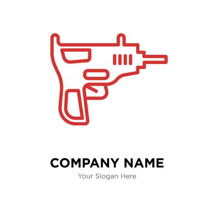 Uzi company logo design template, Uzi logotype vector icon, business corporative Vettoriali
