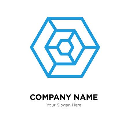 Hexagon company logo design template, Hexagon logotype vector icon, business corporative
