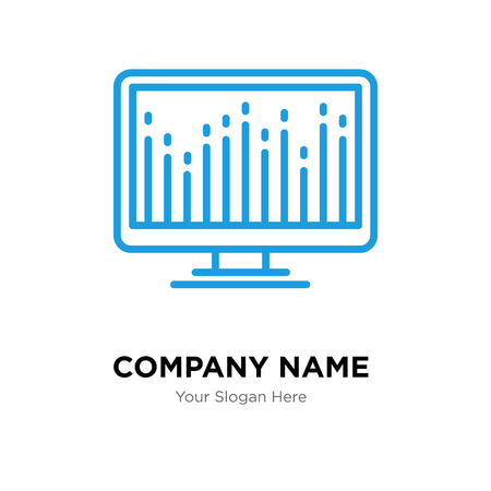Computer company logo design template, Computer logotype vector icon, business corporative