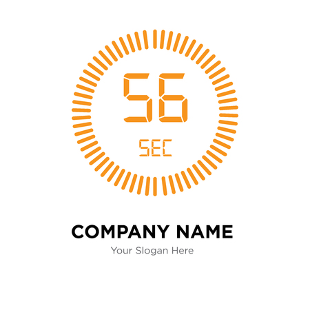 The 56 seconds company logo design template, The 56 seconds logotype vector icon, business corporative