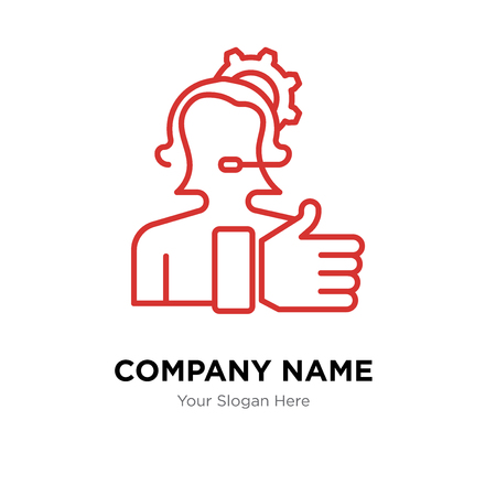 Technical Support company logo design template, Technical Support logotype vector icon, business corporative