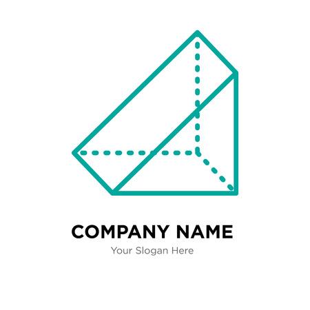 Prism company logo design template, Prism logotype vector icon, business corporative
