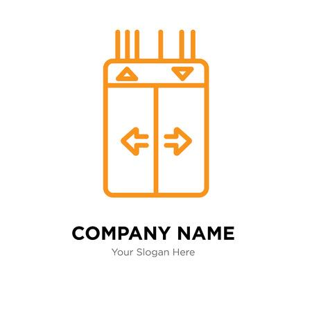 Modello di progettazione di logo di società di ascensore, icona di vettore di logotipo di ascensore, corporativo di affari