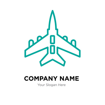 Jet company logo design template, Jet logotype vector icon, business corporative