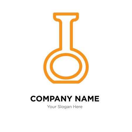 Flask company logo design template, Flask logotype vector icon, business corporative