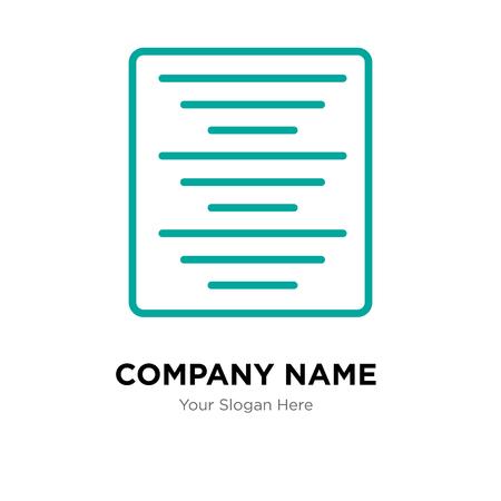 Center alignment company logo design template, Center alignment logotype vector icon, business corporative