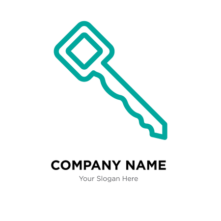 Key company logo design template, Key logotype vector icon, business corporative