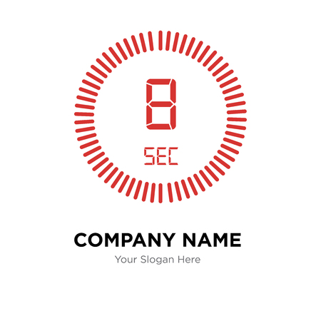 The 8 seconds company logo design template, The 8 seconds logotype vector icon, business corporative