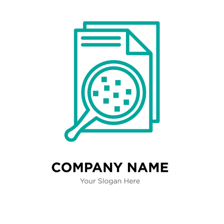 File company logo design template, File logotype vector icon, business corporative