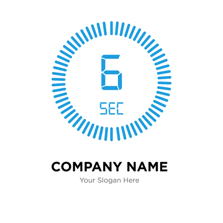 The 6 seconds company logo design template, The 6 seconds logotype vector icon, business corporative