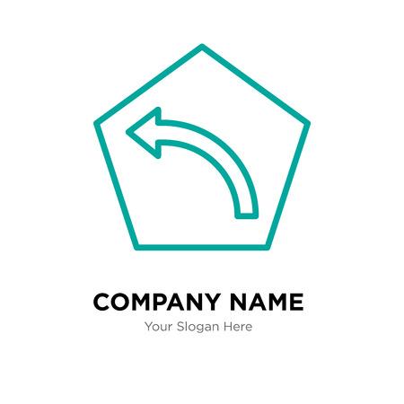 Turn left company logo design template, Turn left logotype vector icon, business corporative Stock Vector - 106295531