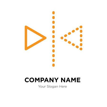 Modello di progettazione del logo della società di riflessione, icona di vettore del logotipo di riflessione, corporativo di affari