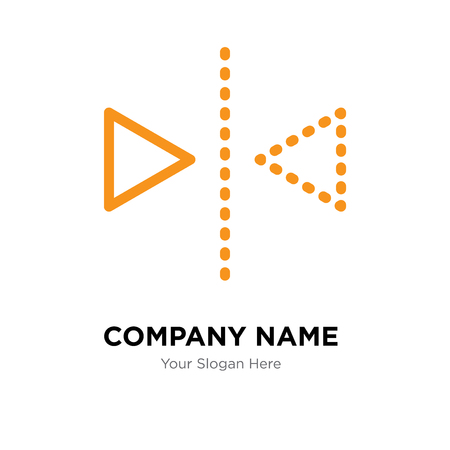 Plantilla de diseño de logotipo de empresa de reflexión, icono de vector de logotipo de reflexión, empresa corporativa