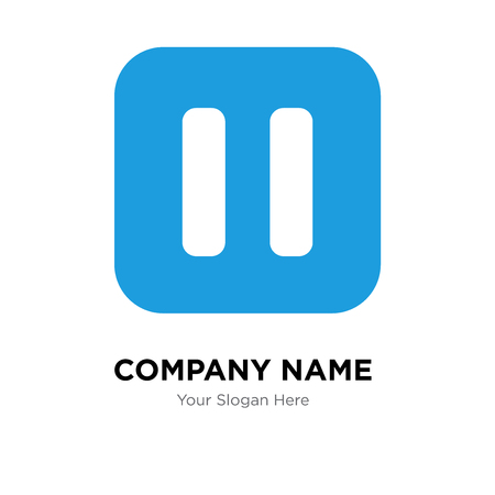 Pause company logo design template, Pause logotype vector icon, business corporative