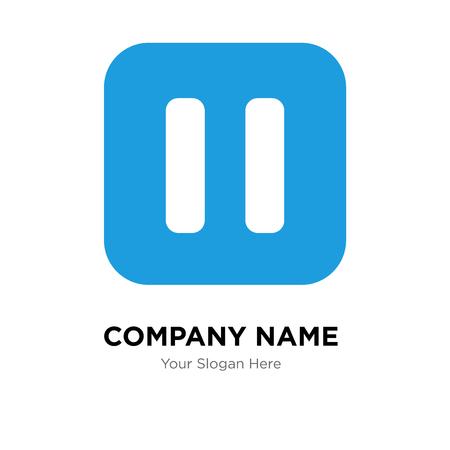 Metti in pausa il modello di progettazione del logo dell'azienda, metti in pausa l'icona di vettore del logotipo, aziendale Logo