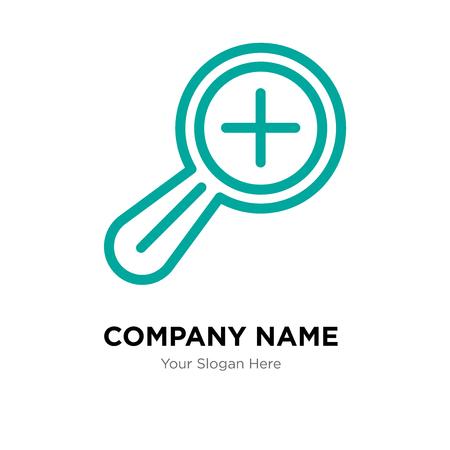 Zoom nel modello di progettazione del logo dell'azienda, Zoom nell'icona di vettore del logotipo, corporativo di affari