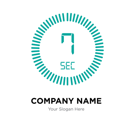 The 7 seconds company logo design template, The 7 seconds logotype vector icon, business corporative