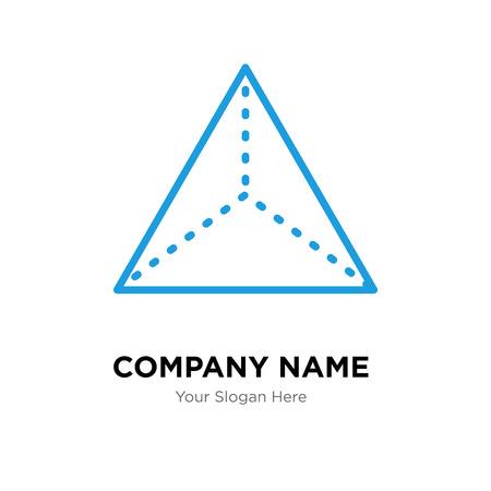 Pyramid company logo design template, Pyramid logotype vector icon, business corporative