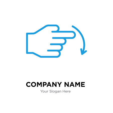 Swipe company logo design template, Swipe logotype vector icon, business corporative