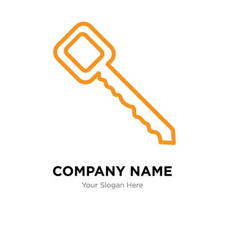 Modèle de conception de logo d'entreprise clé, icône de vecteur de logo clé, entreprise corporative
